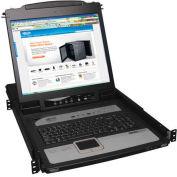 "Tripp Lite 8-Port Console IP KVM Switch 1U RM w/ 19"" LCD"