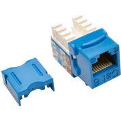Tripp Lite Cat6/Cat5e 110 Style Punch Down Keystone Jack, Blue, TAA Compliant