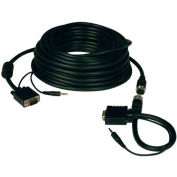 Tripp Lite 50ft SVGA VGA Monitor Easy Pull Cable w/ Audio Coax HD15 M/M 50'