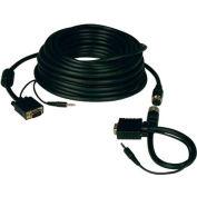 Tripp Lite 100ft SVGA VGA Monitor Easy Pull Cable Audio Coax HD15 M/M 100'