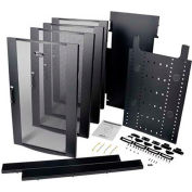 48U Rack Enclosure Server Cabinet Colocation Kit Dual 23URM