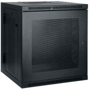 Tripp Lite 10U SmartRack Low-Profile Switch-Depth Wall-Mount Rack Enclosure Cabinet, Hinged Back