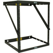 Tripp Lite 8U/12U/22U Expandable SmartRack Switch-Depth Wall-Mount 2-Post Open Frame Rack