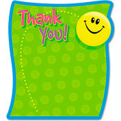 """TREND® Thank You Note Pad T72030, 5"""" x 5"""", Multicolor, 50 Sheets/Pad, 1/Pack"""