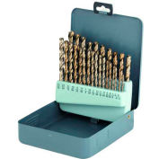 """29 Pc. Made in USA HSS Polished Jobbers 1/16""""-1/2"""" Drill Set"""