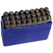 """3/8"""" Import 27 Pc. Letter Steel Stamp Set"""