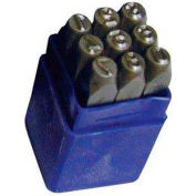 """1/4"""" Import 9 Pc. Figure Steel Stamp Set"""