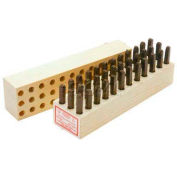 """3/32"""" Young Bros Heavy Duty 27 Pc. Letter Steel Stamp Set"""
