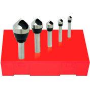 Made in USA HSS Zero Flute Countersink & Deburring Tool Set 82° #0 - #4