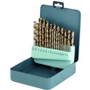20 Pc. Import HSS Polished Jobbers #61 - # 80 Drill Set