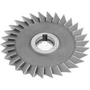 """Made in USA 60° Single Angle Arbor Style Milling Cutter LH 4"""" Dia x 1/2"""" Width x 1-1/4"""" Hole"""
