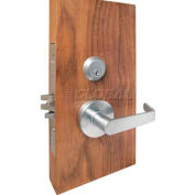 Extra HD Grade 1 Mortise Locks, Sectional Trims, Deadlock, Single Cylinder w/ Thumbturn, US26D