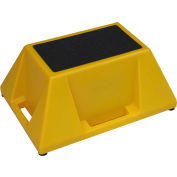 """Techstar Industrial Step Stand 20""""W x 28""""D x 13""""H - 1 Step Yellow - SS-1-08"""