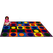 "Trendsetter Rugs Dots, Primary 4' x 5'8"" - T0114"