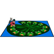 "Trendsetter Rugs Frogs, Rectangle 7' x 9'6"" - T0216"