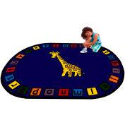 """Trendsetter Rugs Giraffe, Oval 4' x 5'8"""" - T0224"""