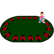 "Trendsetter Rugs Lady Bug, Oval 7' x 9'6"" - T0234"