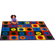 "Trendsetter Rugs Alphabet Dots Primary, Rectangle 7' x 9'6"" - T0312"