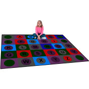 "Trendsetter Rugs Alphabet Dots Soft, Rectangle 4' x 5'8"" - T0314"