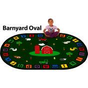 """Trendsetter Rugs Barnyard, Oval 6' x 8'6"""" - T0376"""