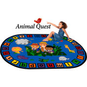 "Trendsetter Rugs Animal Quest, Oval 4' x 5'8"" - T0383"