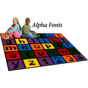 "Trendsetter Rugs Alpha Fonts, Rectangle 4' x 5'8"" - T0402"