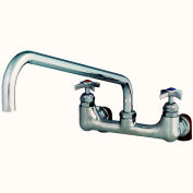 """T&S Brass B-0291 Wall Mounted Big Flo Mixing Faucet with 8"""" Centers"""