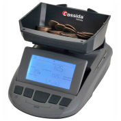 Cassida TillTally Cash & Coin Currency Counting Scale S-TT - LCD Display - 200 Bill Capacity, Gray