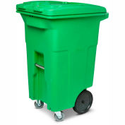 Toter Organic Waste Trash Cart w/Casters, 64 Gallon, Organic Green - ACG64-00LIM