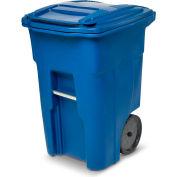 Toter Heavy Duty Two-Wheel Trash Cart, 48 Gallon Blue - ANA48-00BLU
