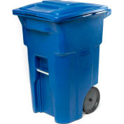 Toter Heavy Duty Two-Wheel Trash Cart, 64 Gallon Blue - ANA64-BL
