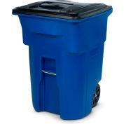 Toter Heavy Duty Two-Wheel Trash Cart, 96 Gallon Blue - ANA96-00BLU