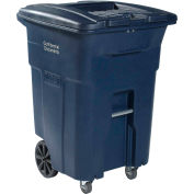 Toter 2-Wheel Secure Document/E-Waste Cart w/Casters, 96 Gallon Graystone - CDC96-GYS