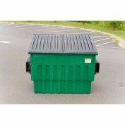 Toter 4 Yard Front Loading Dumpster, Dark Cool Gray - FL040-10082
