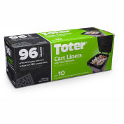 Toter 96 Gallon Cart Liner, 1.1 Mil, Black, 8 Pack  - GB096-R8000