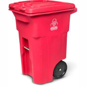 Toter 2-Wheel Medical Waste Cart, 64 Gallon Red - RMN64