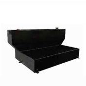 100 Gallon Steel Full Size L-Shape Liquid Storage Tank for Crew Cabs - Black 73510
