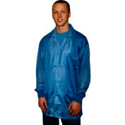 Transforming Technologies ESD Jacket, Collared, Snap Cuff, Light Blue, 5XL