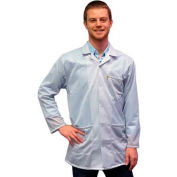 Transforming Technologies ESD 3/4 Length Jacket, Snap Cuff, White, X-Small