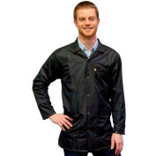 Transforming Technologies ESD 3/4 Length Jacket, Snap Cuff, Black, Small