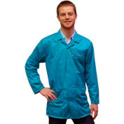 Transforming Technologies ESD 3/4 Length Jacket, Snap Cuff, Teal, Large