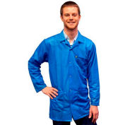 Transforming Technologies ESD 3/4 Length Jacket, Snap Cuff, Light Blue, X-Large