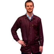 Transforming Technologies ESD 3/4 Length Jacket, Snap Cuff, Maroon, X-Large