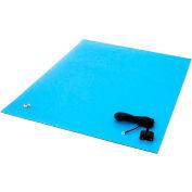 "Transforming Tech ESD Rubber Matting MT2472, 24""x72""x0.080"" - Blue"