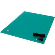 "Transforming Tech ESD Rubber Matting MT3672, 36""x72""x0.080"" - Green"