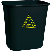 Transforming Tech ESD Trash Can 28 Quart WBAS 28  - Black