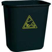 Transforming Tech ESD Trash Can 28 Quart WBAS 28  - Black