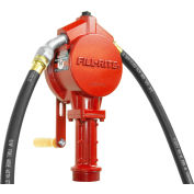 "Fill-Rite FR112, Rotary Hand Pump w/20"" Steel Telescoping Suction Pipe, 10 Gals per 100 revolutions"
