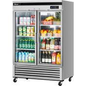 Turbo Air MSR-49G-2 Glass Door Refrigerator 49 Cu. Ft. Steel