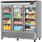 Turbo Air MSR-72G-3 Glass Door Refrigerator 72 Cu. Ft. Steel